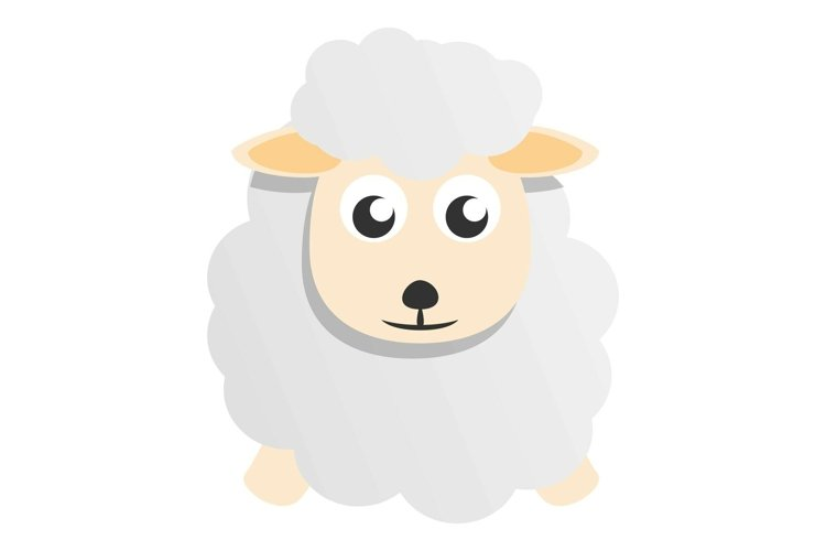 Cute sheep mascot icon, cartoon style example image 1