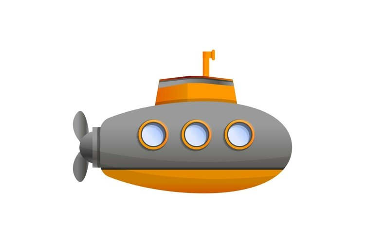 Ocean submarine icon, cartoon style example image 1