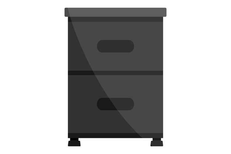 Black drawer icon, cartoon style example image 1
