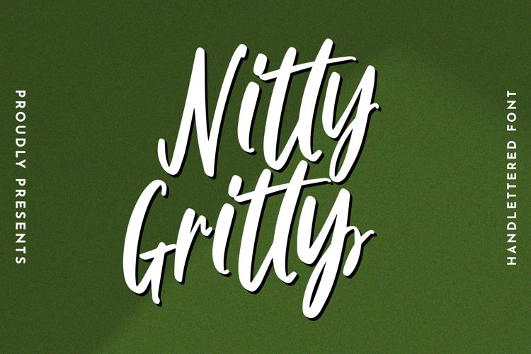 Nitty Gritty - Handlettered Font example image 1