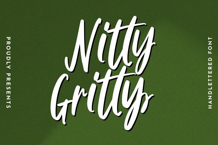Web Font Nitty Gritty - Handlettered Font example image 1
