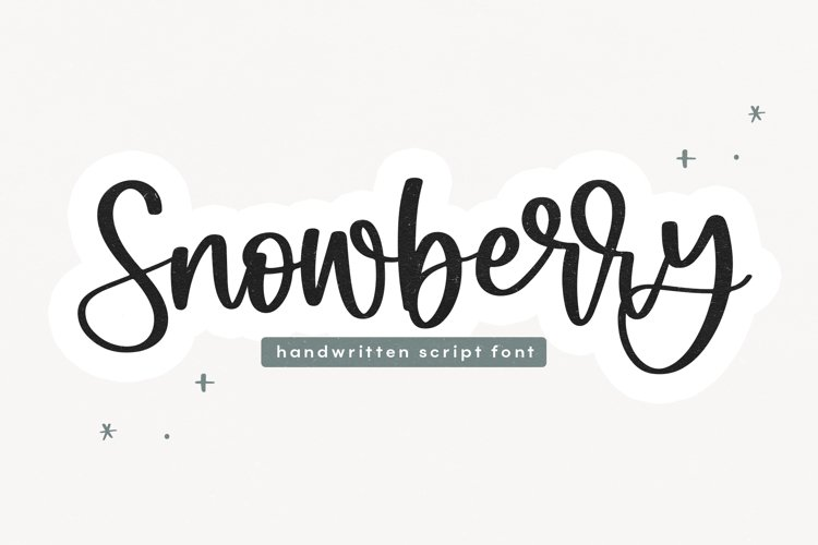 Snowberry - A Bouncy Script Font example image 1