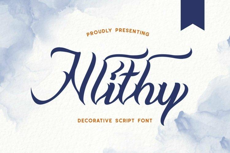 Web Font Nlithy - Decorative Script Font example image 1