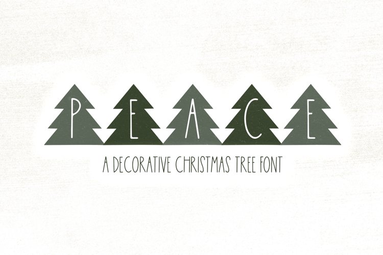 Peace Trees - Decorative Christmas Font example image 1