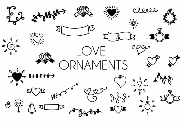 love ornaments example image 1