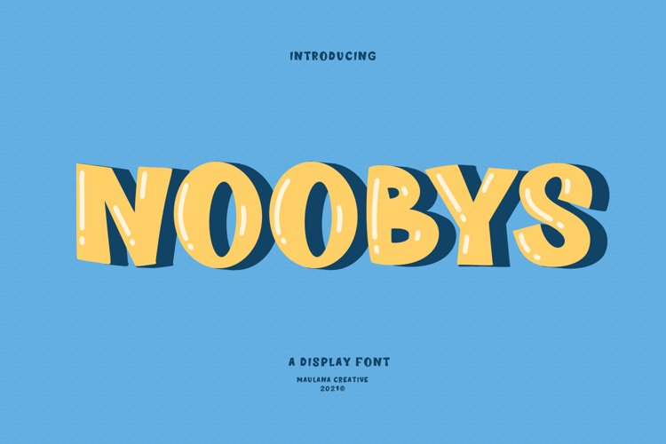 Noobys Display Font example image 1