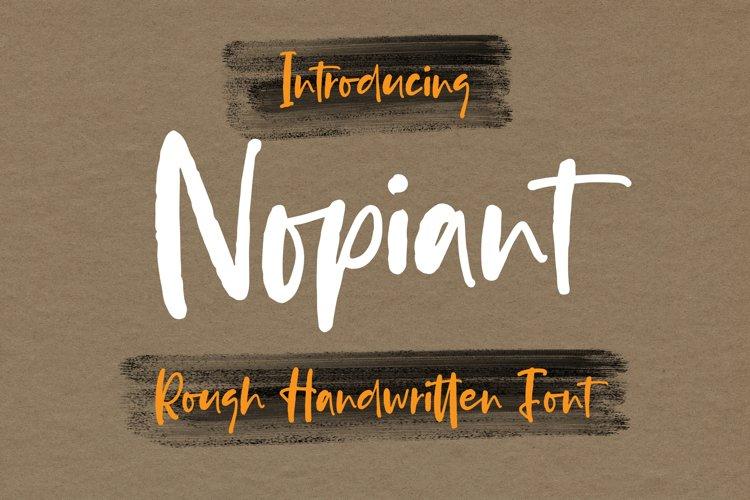 Nopiant - Rough HandWritten Font example image 1