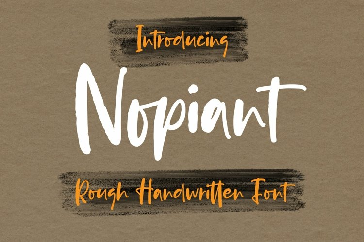 Web Font Nopiant - Rough HandWritten Font example image 1