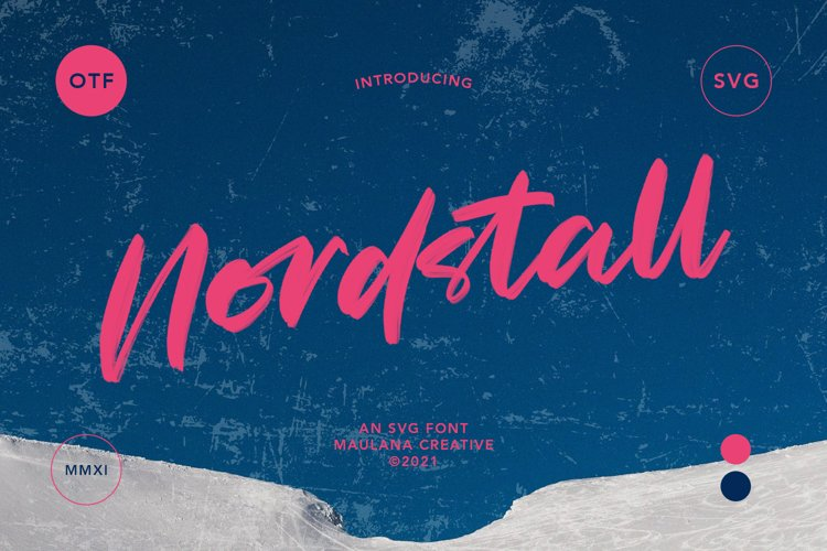Nordstall SVG Brush Font example image 1