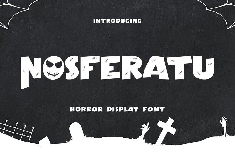 Nosferatu - Horror Display Font example image 1