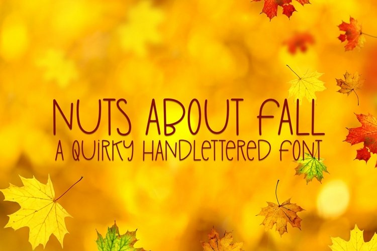Web Font Nuts About Fall - A Quirky Handlettered Font