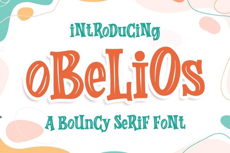 Obelios a Bouncy Serif Font example image 1