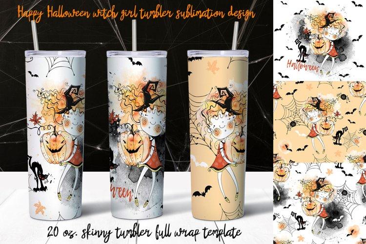 Happy Halloween ute witchn tumbler sublimation design. 20 oz