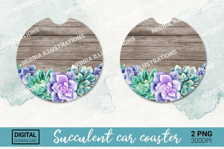 Car coaster design. Keychain sublimation. Succulent png