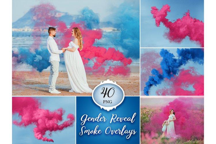 40 Gender Reveal Smoke Bomb Photo Overlays example image 1