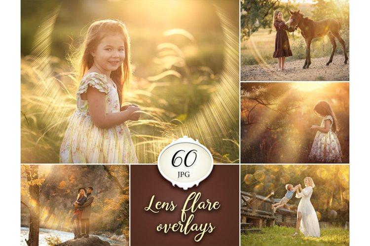 60 Lens Flare Photoshop Overlays example image 1
