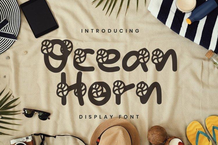 Web Font Ocean Horn Font example image 1