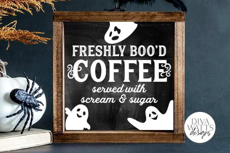 Freshly Boo'd Coffee SVG | Halloween Ghost SVG example image 1