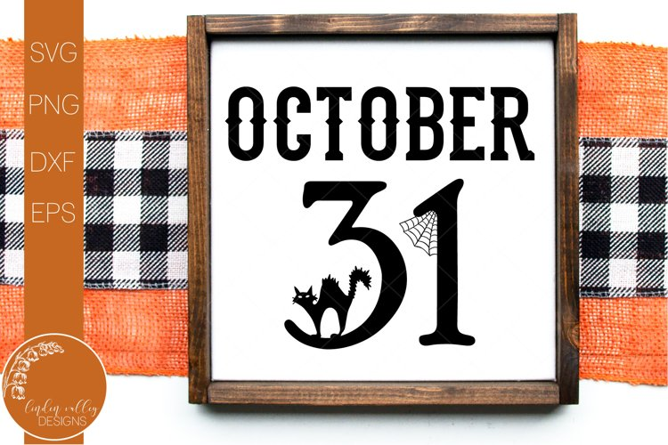 October 31 Black Cat SVG-Halloween SVG