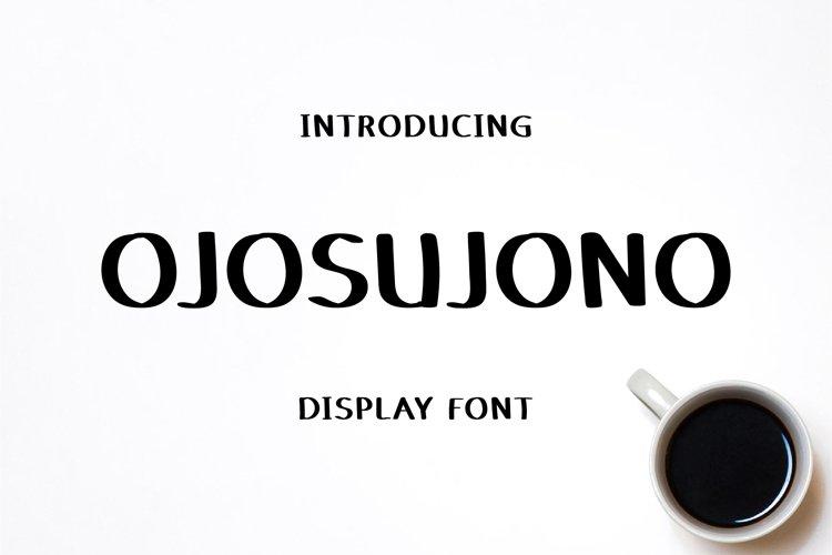 Ojosujono - Display Font example image 1