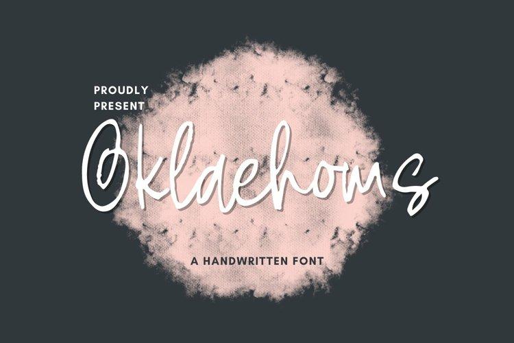 Web Font Oklaehoms Font example image 1