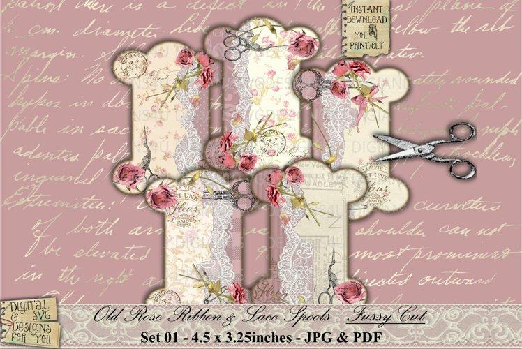 Ribbon Spools   Lace Spools   RS01   Shabby Chic   Printable
