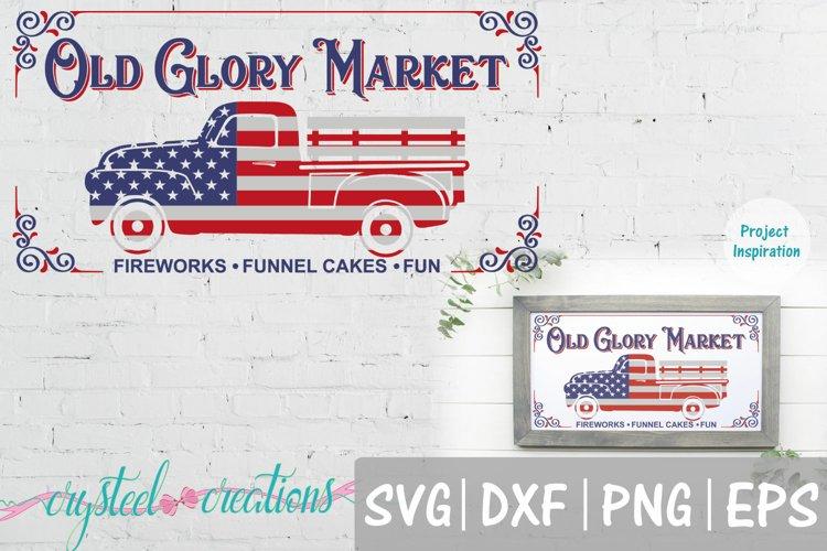 Old Glory Market SVG, DXF, PNG, EPS 12x24