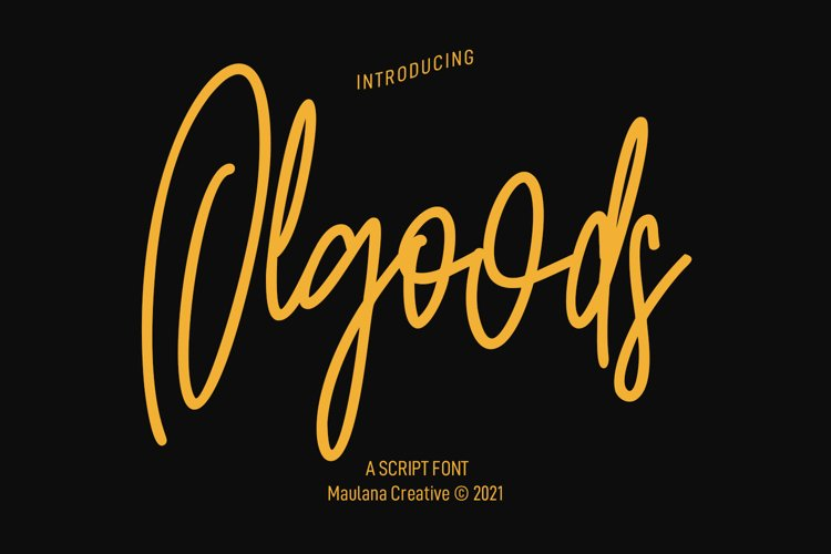 Olgoods Script Font example image 1