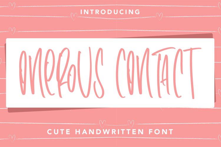 OnerousContract - Cute Handwritten Font example image 1