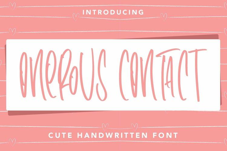 Web Font OnerousContract - Cute Handwritten Font example image 1