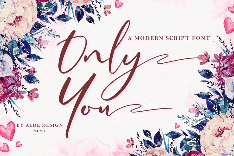 Only You // Modern Script