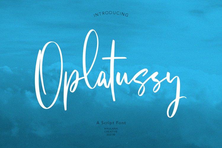 Oplatussy Script Font example image 1