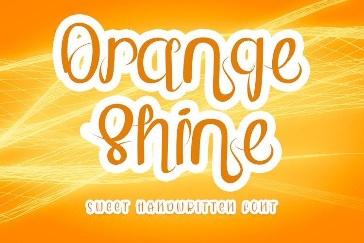 Orange Shine - Sweet Handwritten Font example image 1