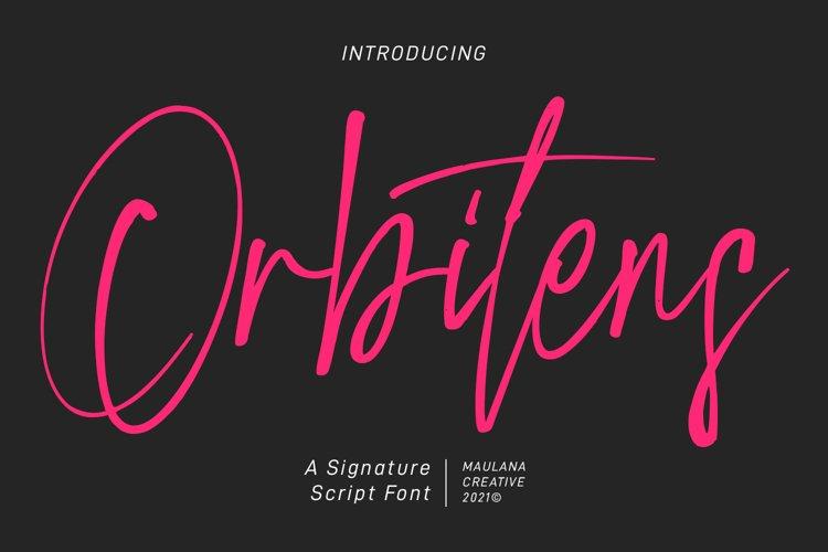 Orbitens Signatue Script Font example image 1