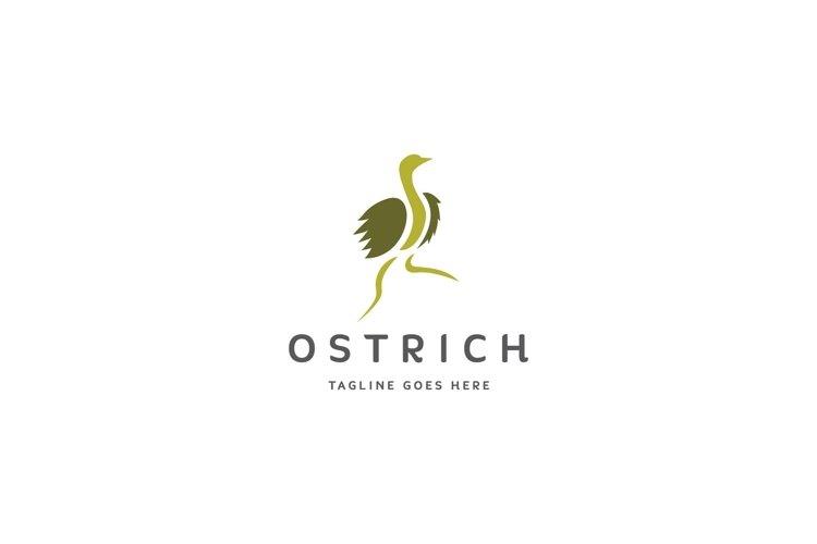 ostrich bird logo