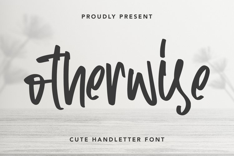 Otherwise - Cute Handletter Font example image 1