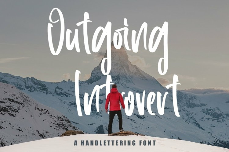 Web Font Outgoing Introvert - Handlettering Font example image 1