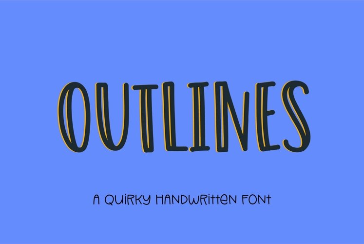 Web Font Outlines - a fun quirky handwritten font example image 1