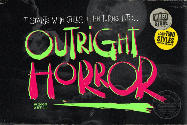Outright Horror: Hand-drawn Halloween Font example image 1