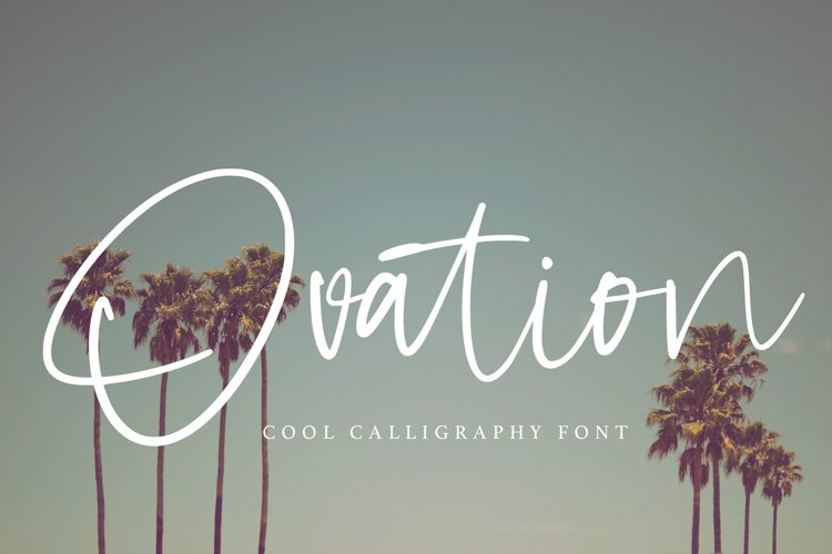 Ovation - Cool Calligraphy Font example image 1