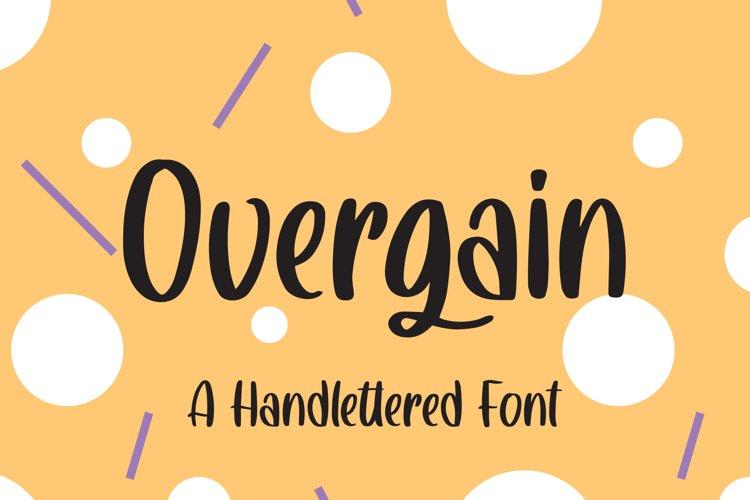 Overgain - Handlettered Font example image 1