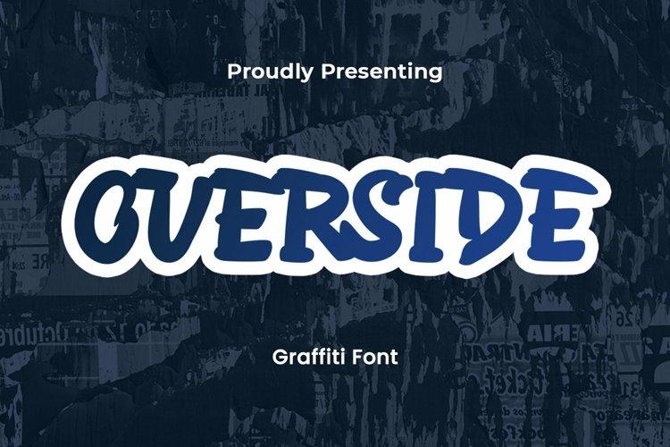 Web Font Overside - Graffiti Font example image 1