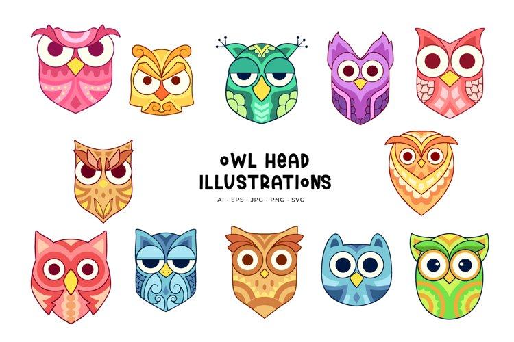 Owl Head Illustrations