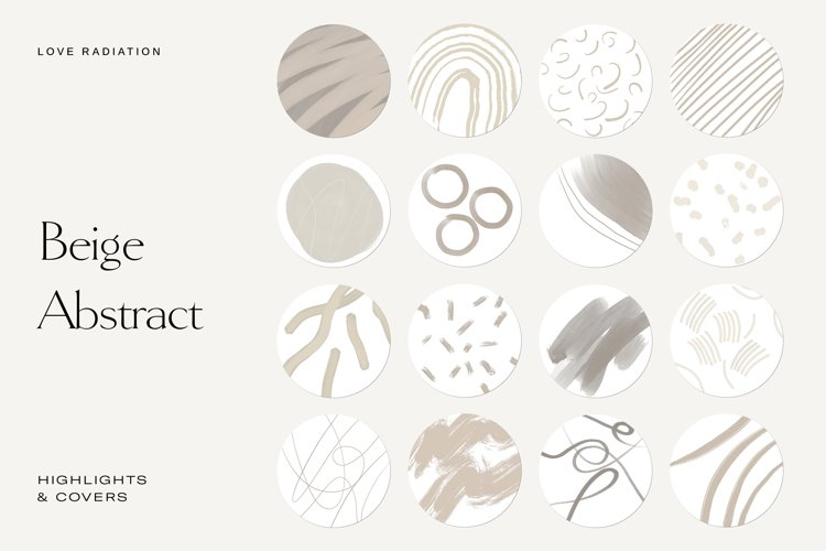 Beige Abstract Instagram Highlight Icons   Highlight Covers example image 1