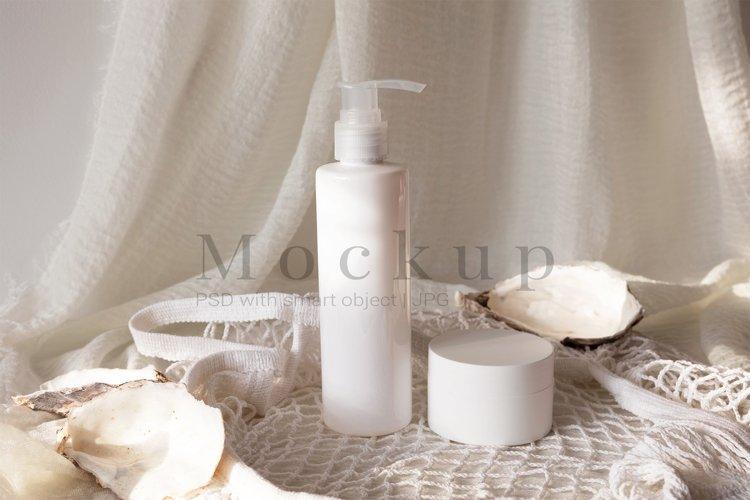 Amber Bottle Mockup,Cosmetic Jar Mockup,PSD Mockup