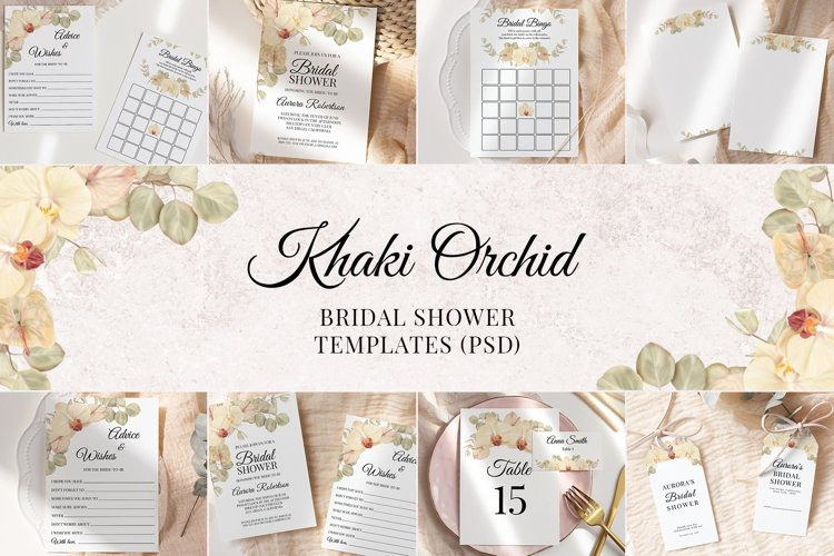 Boho Bridal Shower Templates Cards Floral Invitation Suit