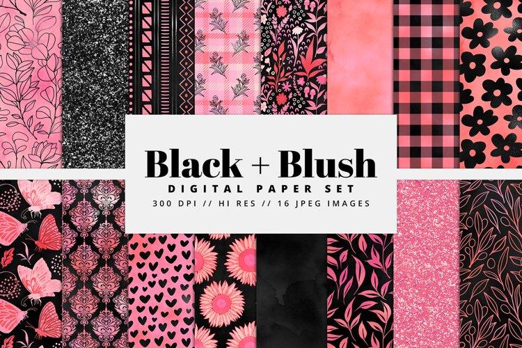 Black and Blush Digital Paper