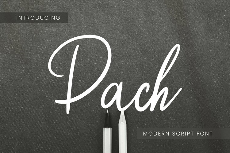 Web Font Pach example image 1