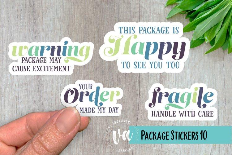 Packaging Stickers Bundle 10 PNGs