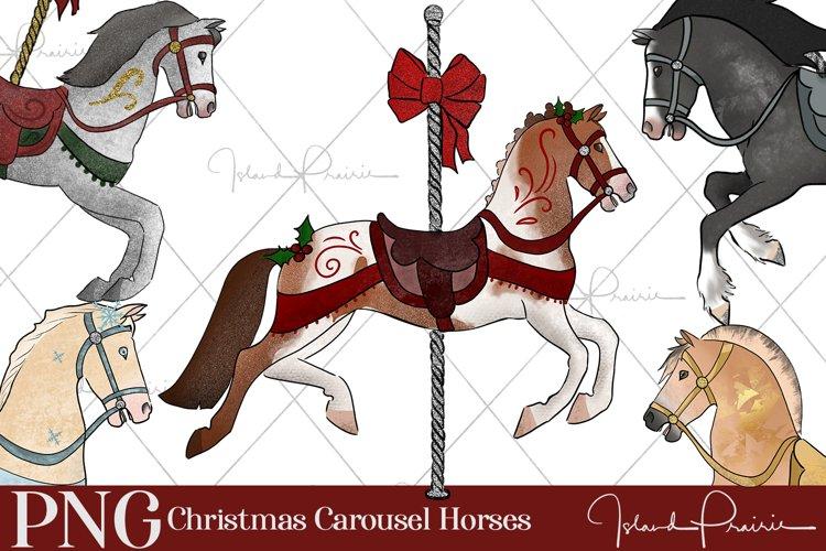 Christmas Carousel Horses Bundle